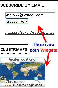 examples of widgets