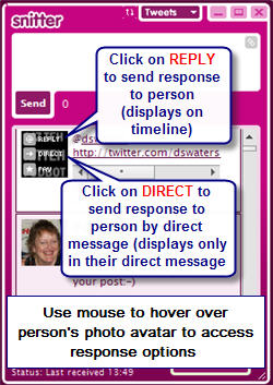 Image of snitter interface