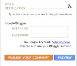 Image of blogger setting