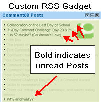 Image of Custom RSS gadget