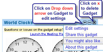 Image of how to edit and delete gadgets