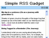 Image of Simple RSS gadget