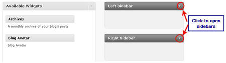 Image of widget sidebars