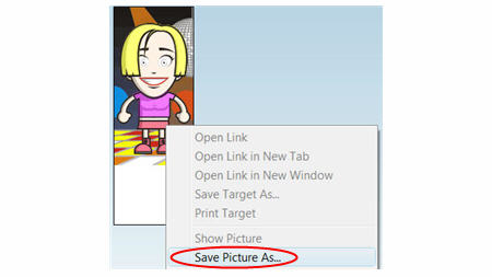 How to save images in Internet Explorer