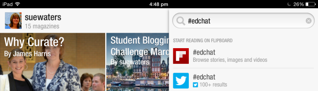 Edchat search