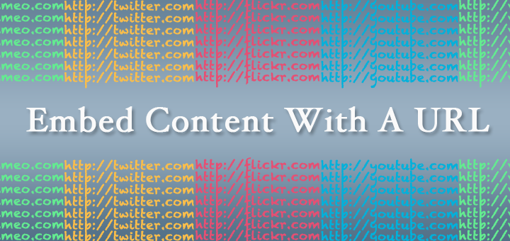 Urls of major media sites around the post title: Embed Content With a URL