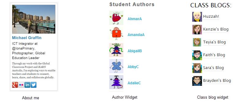 Widget de autores