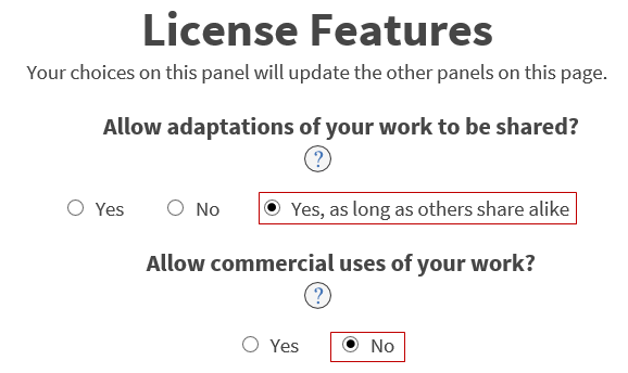 License Features