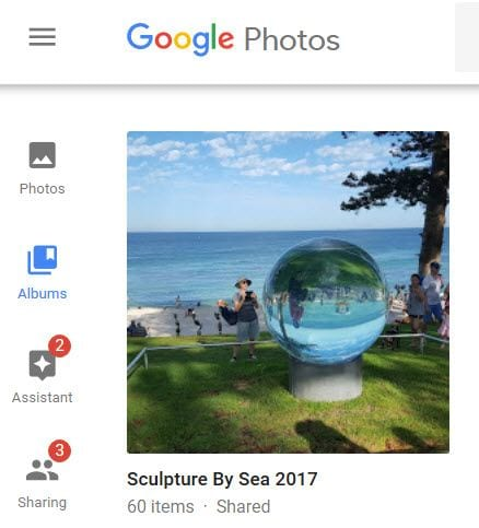 Google photos album