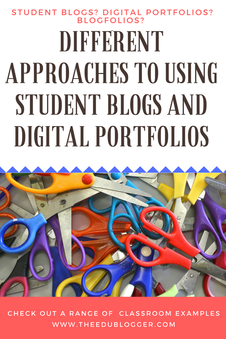 Different Approaches To Using Student Blogs and Digital Portfolios - The Edublogger | This post explores a variety of examples of how student blogs are used in the classroom.