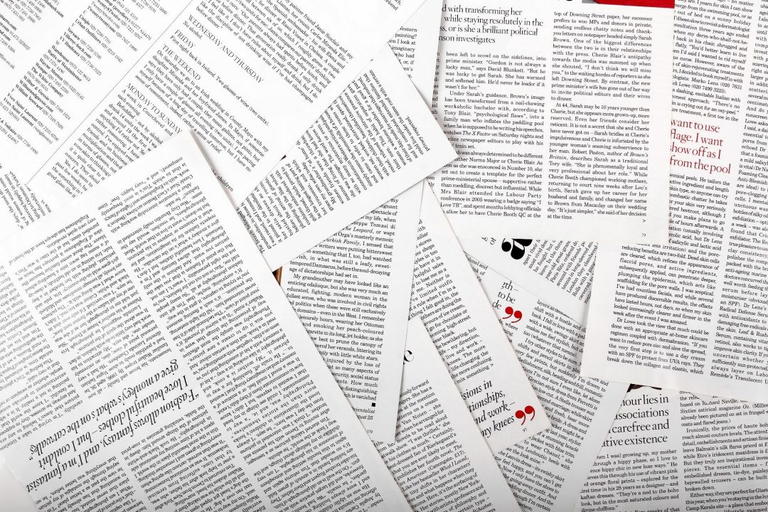 Collection of printed journal articles