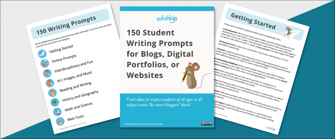 Download PDF eBook with 150 writing prompts for students of all ages in all subject areas.