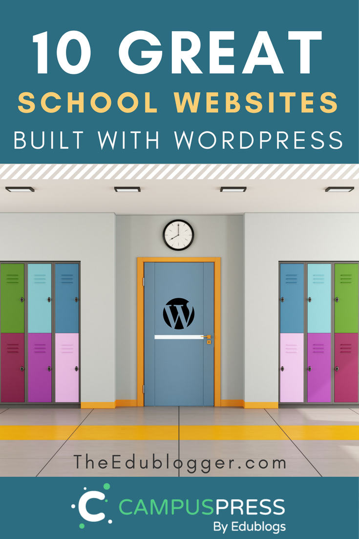 10 Great School Websites Built with WordPress | Edublogs | CampusPress