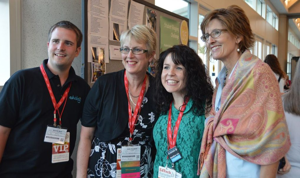 Blogging buddies at ISTE! Ronnie Burt, Julie Hembree, Kathleen Morris and Linda Yollis