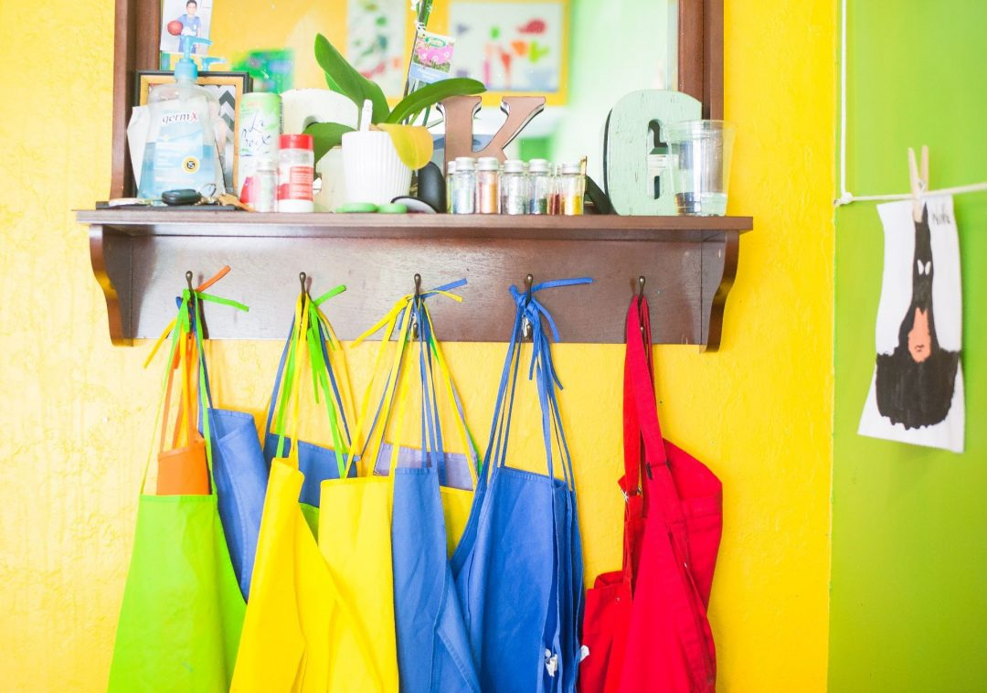 Colourful aprons