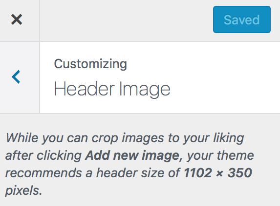 Header image size