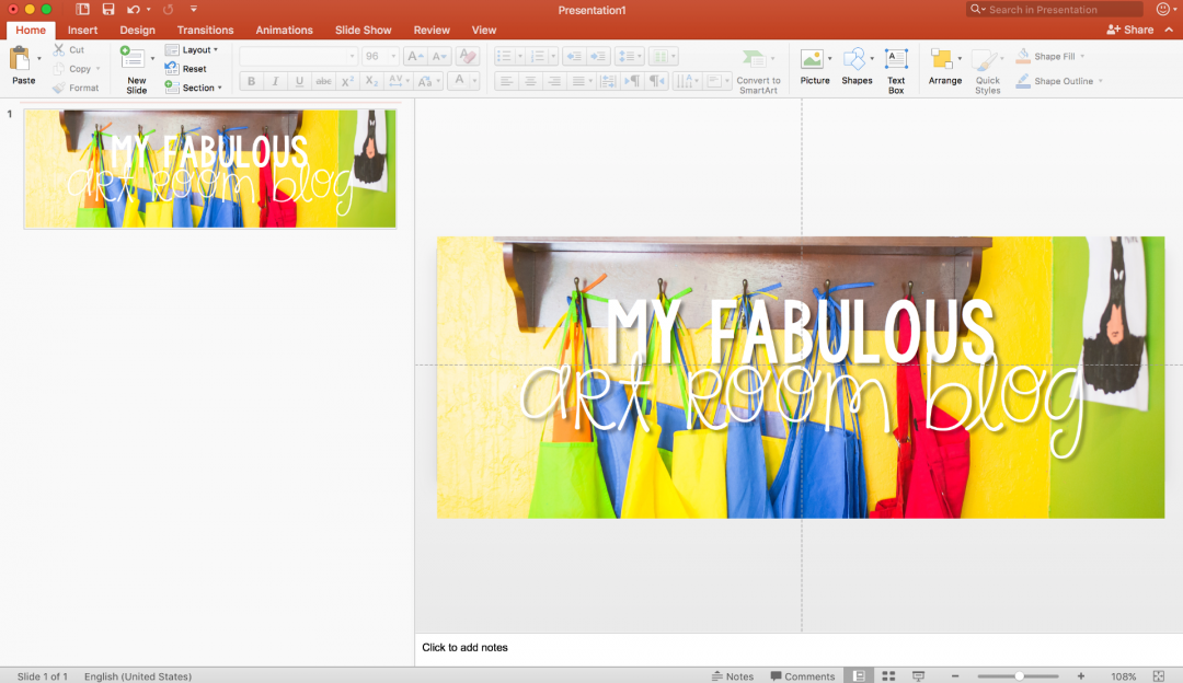 Add text to image PowerPoint