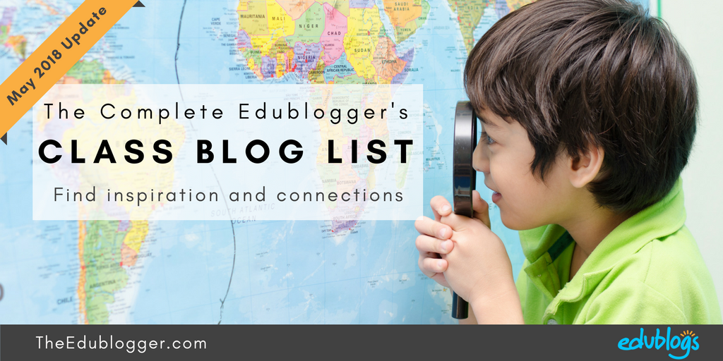 Visiting other class blogs can be a great way to find inspiration and connections. But where do you find other class blogs? We've just completed the latest update of our Class Blog List. The Edublogger | Edublogs