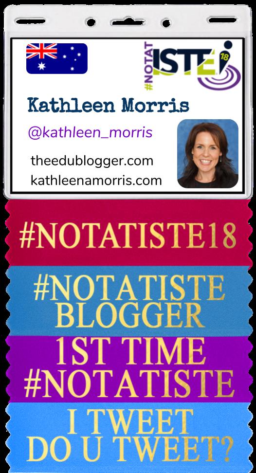 NotAtISTE Badge Kathleen Morris