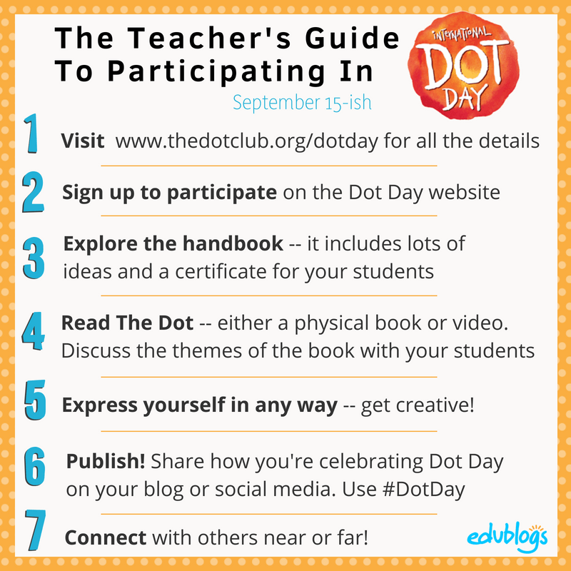 7 Steps To Participating in International Dot Day for Teachers Edublogs -- The Edublogger