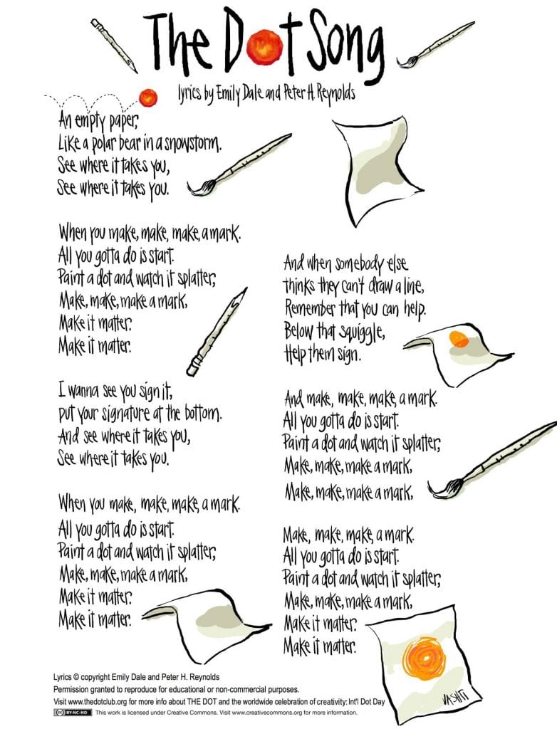 Dot Day song lyrics The Edublogger