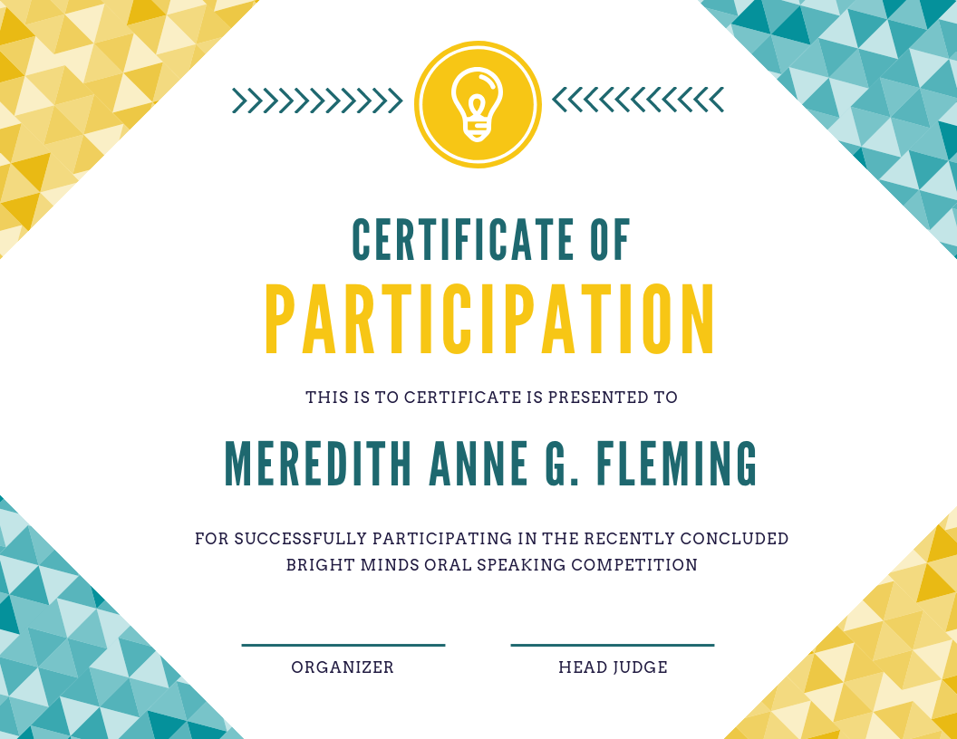 Certificate example Canva The Edublogger