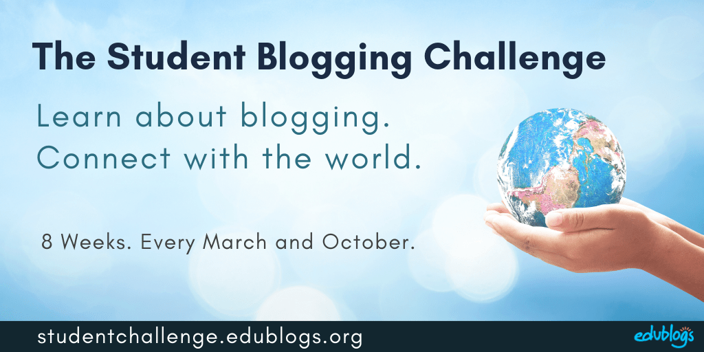 The Student Blogging Challenge is held every March and October. It runs for 8 weeks.