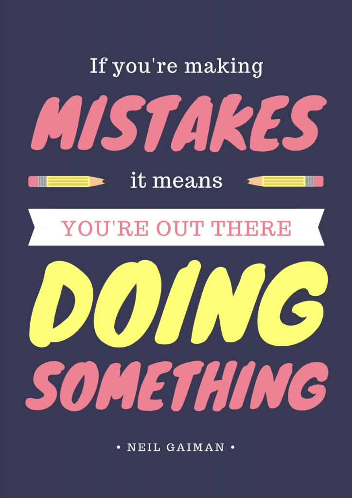 Canva example inspirational quote poster | The Edublogger