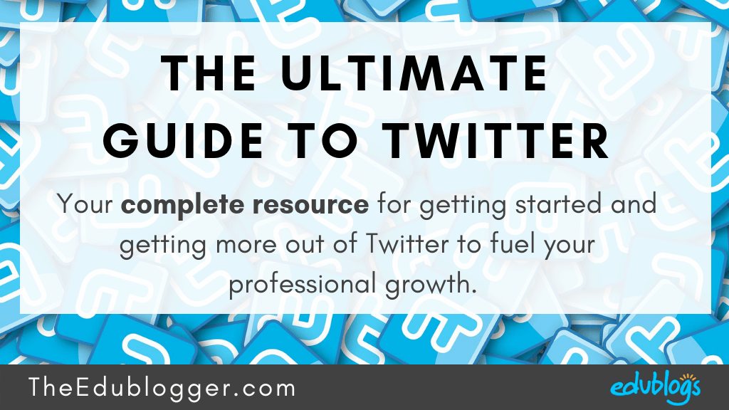 Teachers all over the world are using Twitter every day to build their network and fuel their professional growth. This is your complete resource for getting started and getting more out of Twitter! The Edublogger