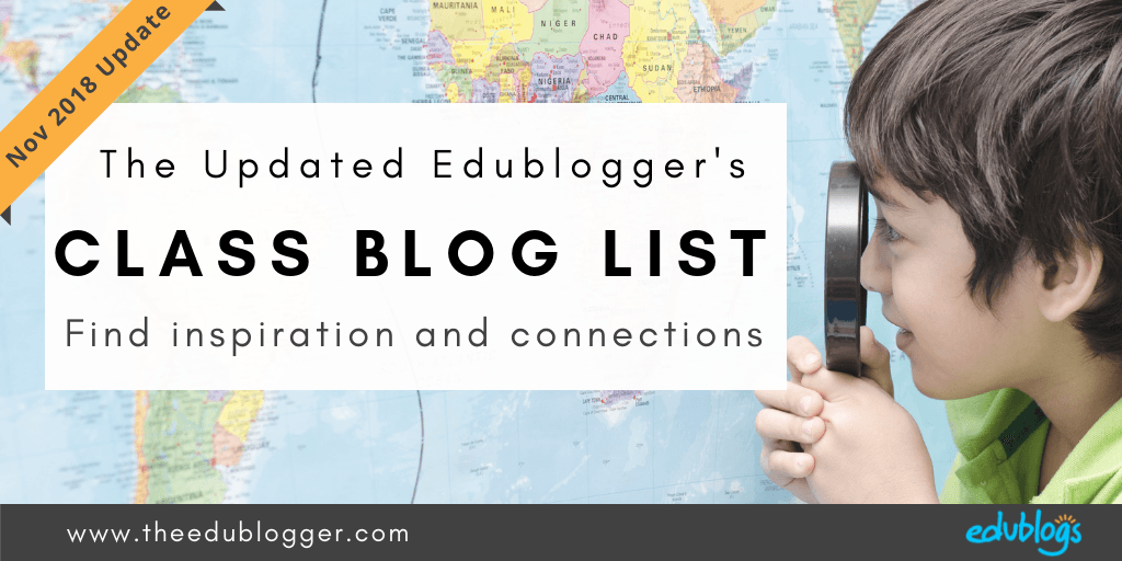 Visiting other class blogs can be a great way to find inspiration and connections. But where do you find other class blogs? We've just completed the latest update of our popular list.