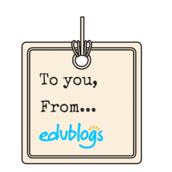 To you, from Edublogs gift tag