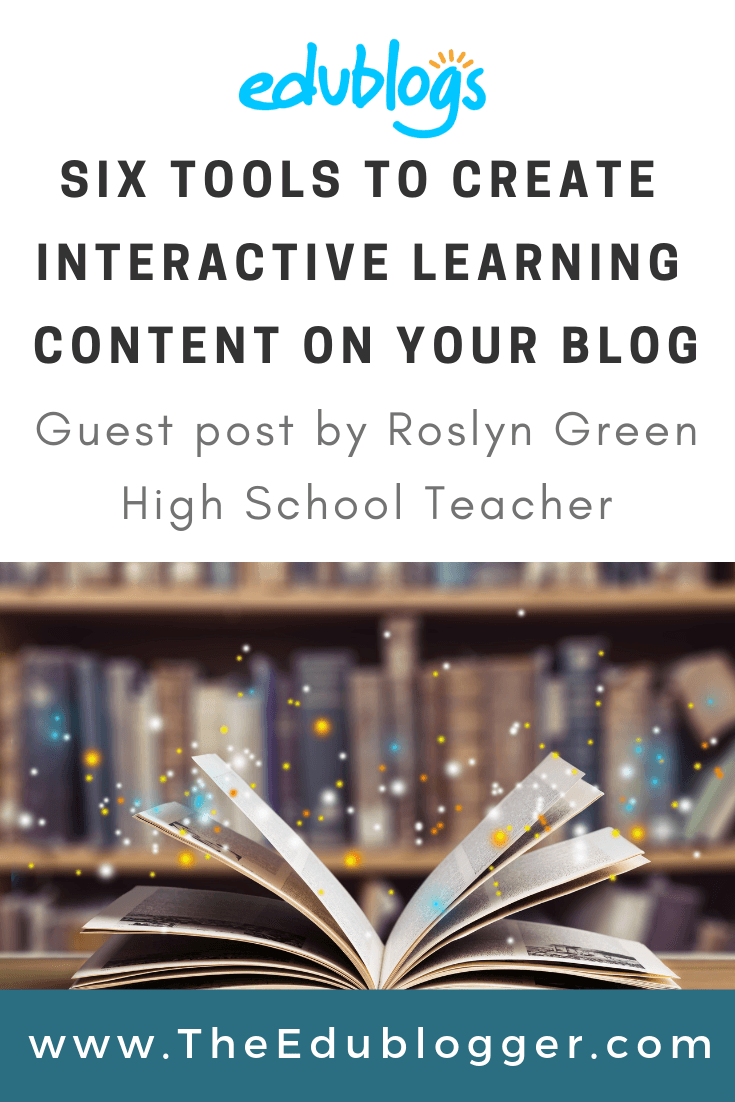 High school teacher Roslyn Green explains how she creates interactive content that she can embed on her class blog. The Edublogger