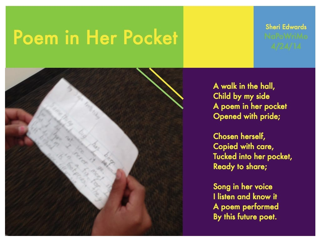 Sheri Edwards' poem for Poem in Your Pocket Day