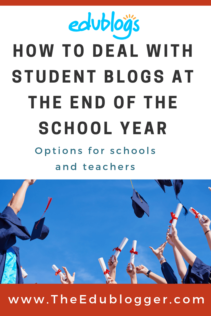 Wondering what to do with your student blogs or class blog at the end of the school year? There are a number of options which we explain in this post.
