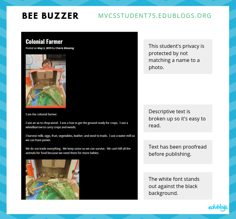 Bee Buzzer blog post annotated