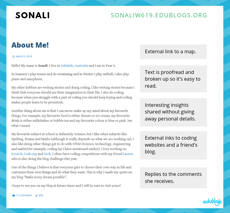 Sonali's blog annotated
