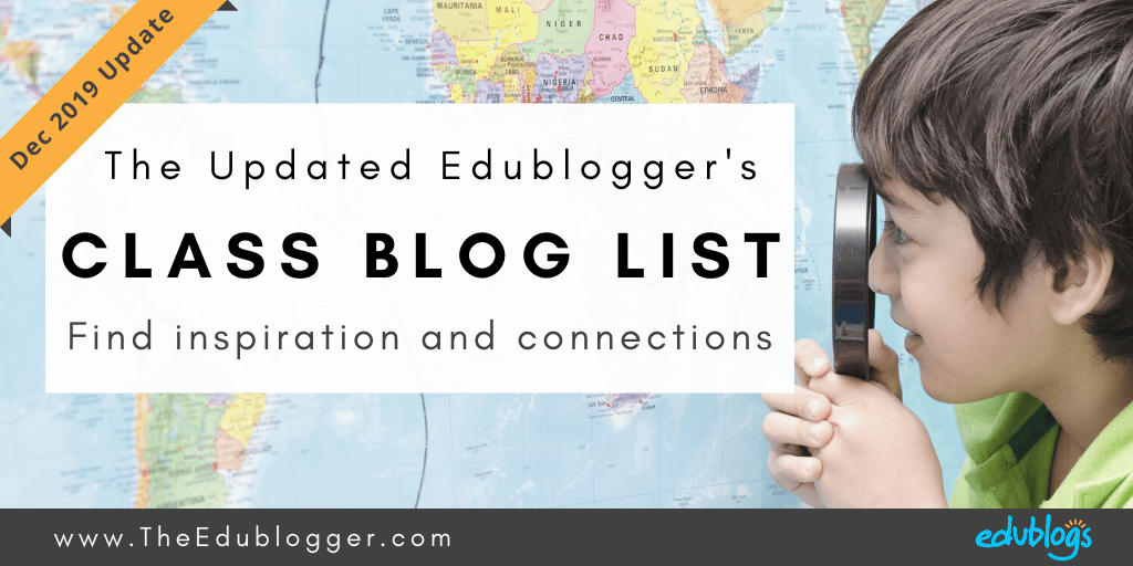 Graphic: The Edublogger's Class Blog List