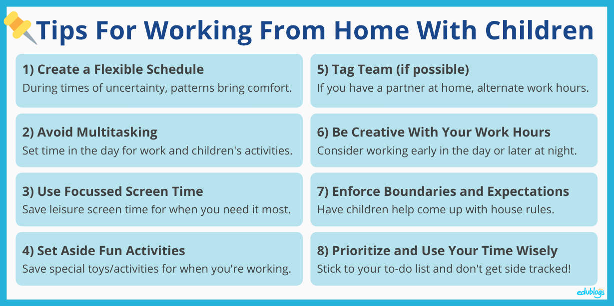 Tips for working from home as outlined in the post